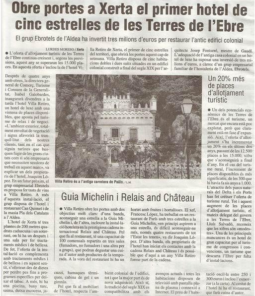 Hotel Villa Retiro Guia Michelin Relais & Chateau