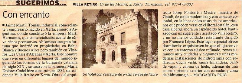 Hotel Villa Retiro cinco estrellas con encanto