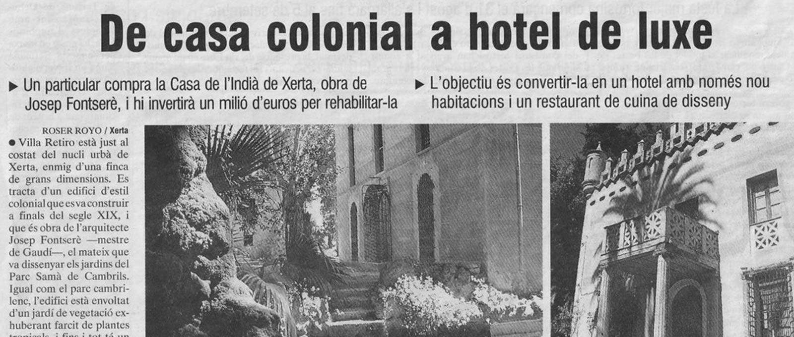 Hotel Villa Retiro de casa colonial a hotel de lujo