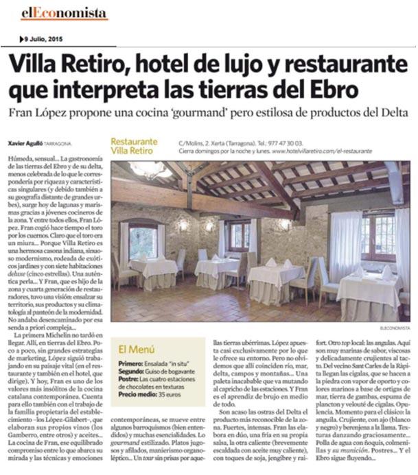 Hotel Villa Retiro lujo 5 estrellas terres de l'Ebre