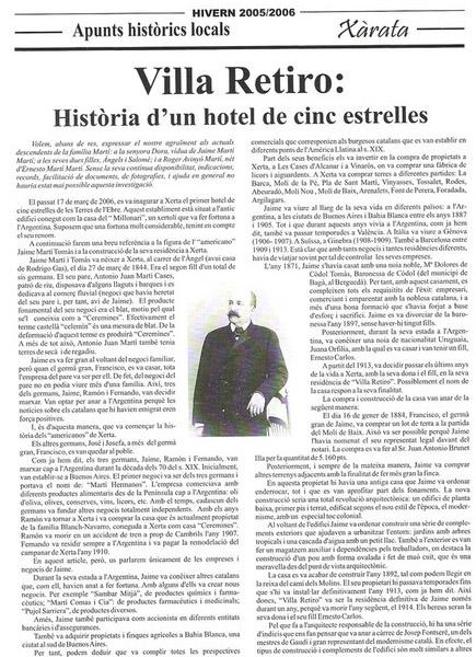 Villa Retiro història d'un hotel de cinc estrelles