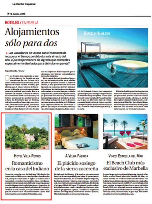 alojamiento solo para dos terres ebre hotel villa retiro cinco estrellas