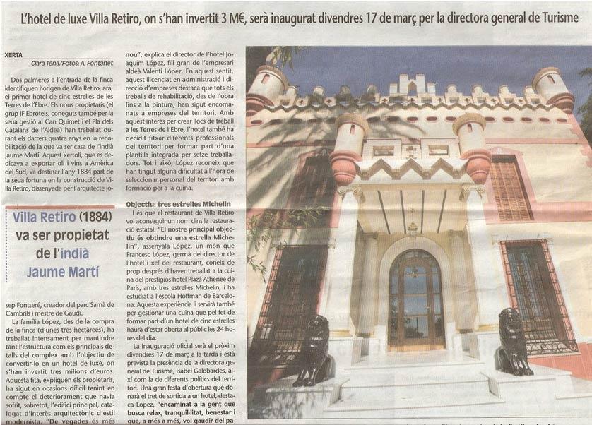 hotel villa retiro 1884 jaume martí