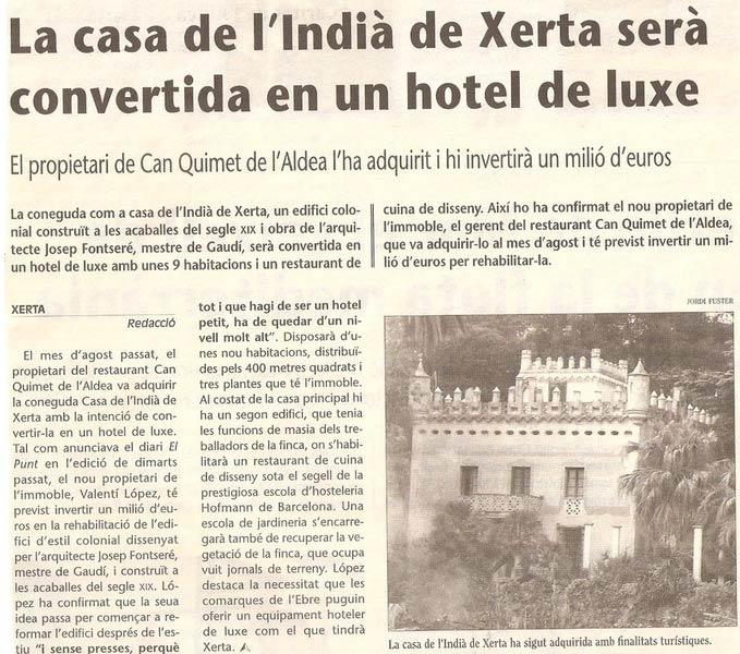 hotel villa retiro la casa india de xerta sera hotel de luxe