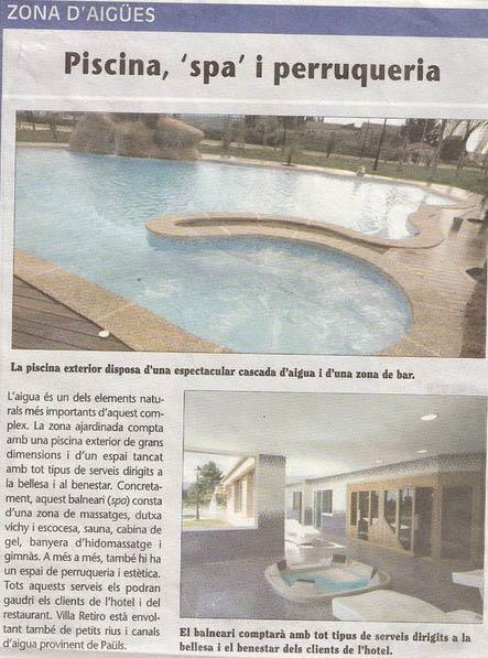 Hotel Villa Retiro piscina spa ebre
