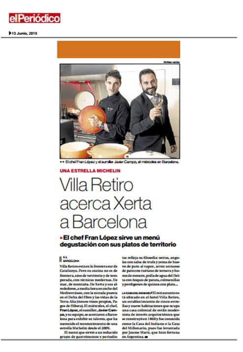 restaurante villa retiro acerca xerta a barcelona el periodico