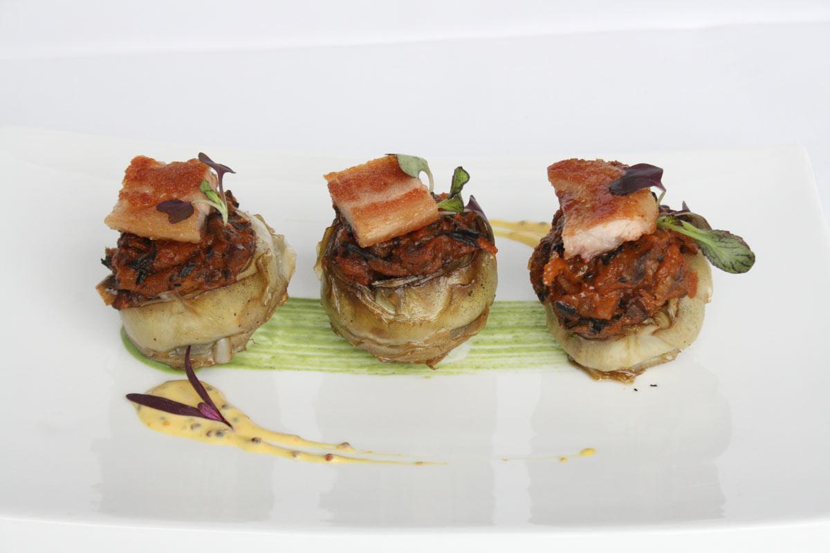 Restaurante-Villa-Retiro-chef-Fran-Lopez-alcachofas-temporada