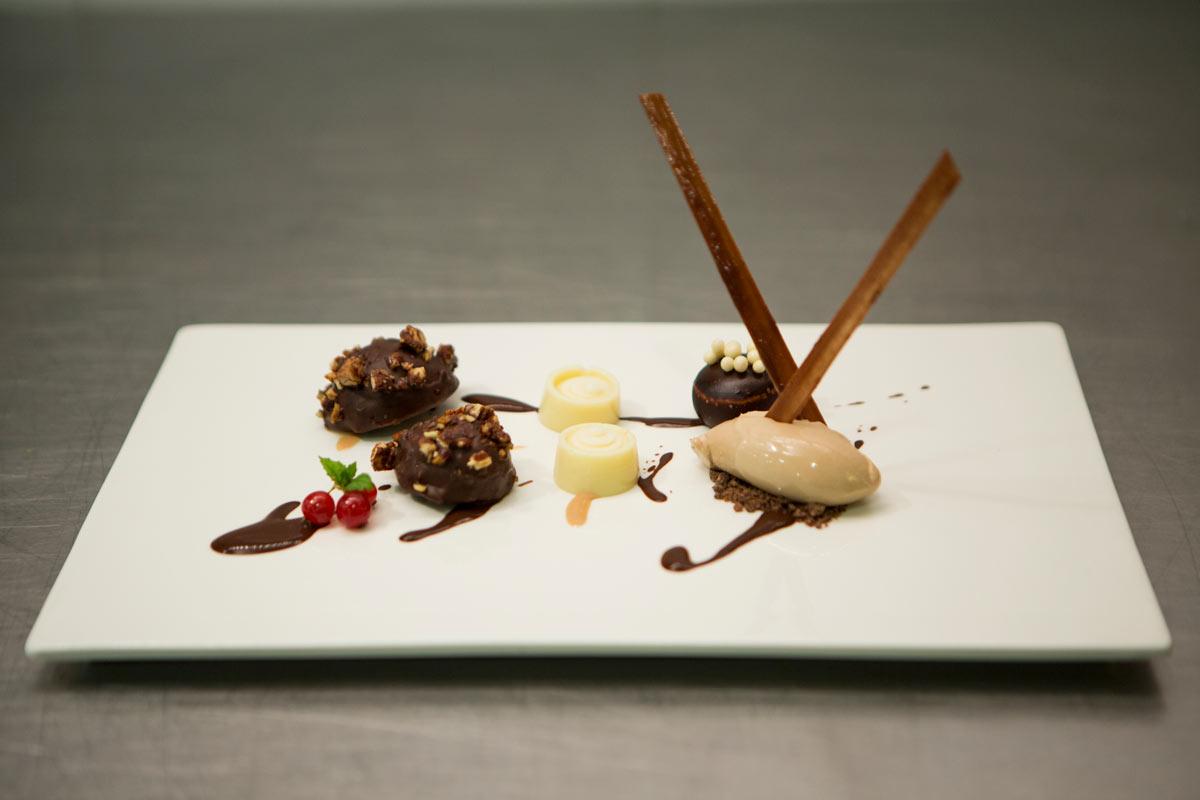 Restaurante Villa Retiro postres tres chocolates